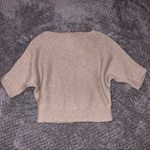Kids cropped sleeve sweater